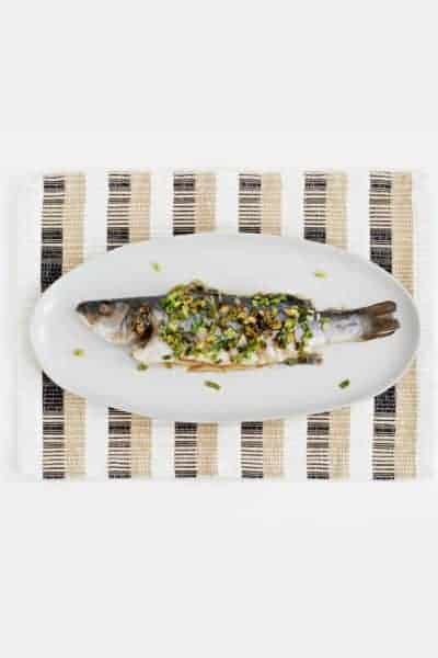 A Chinese fish prepared whole on a platter