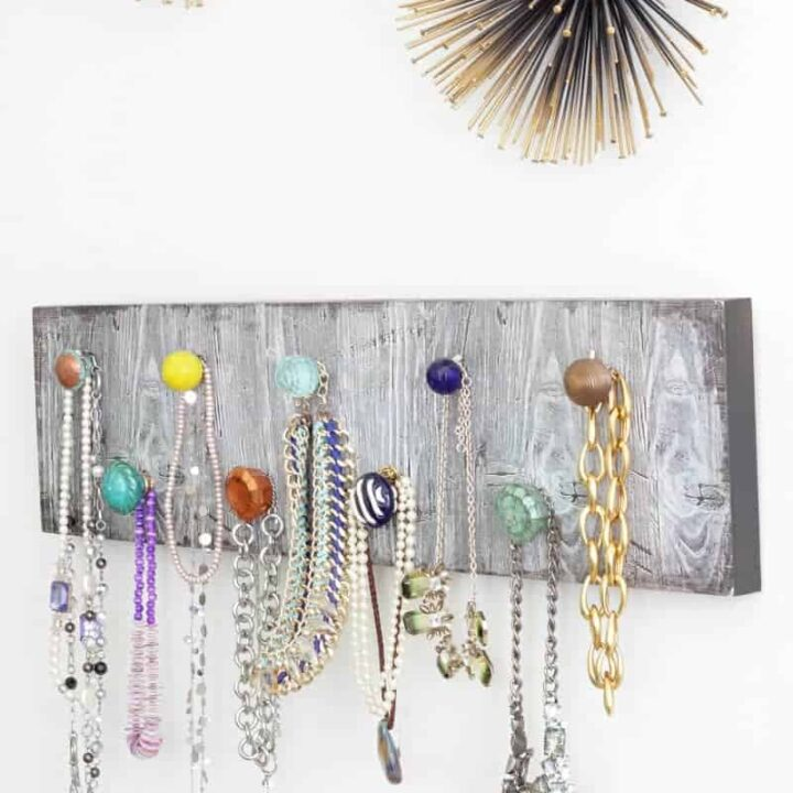 How to Make a DIY Necklace Holder to Organize Your Jewelry!