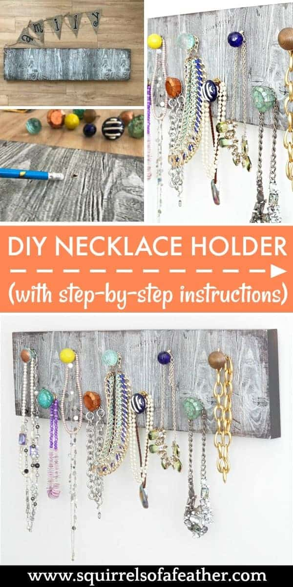 Step-by-step image guide for necklace holder