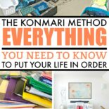Before decluttering with the KonMari method pictures