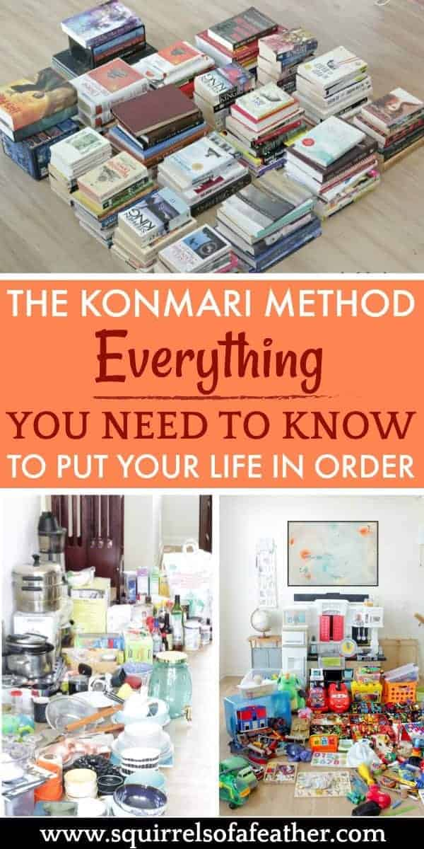 KonMari method decluttering before and after
