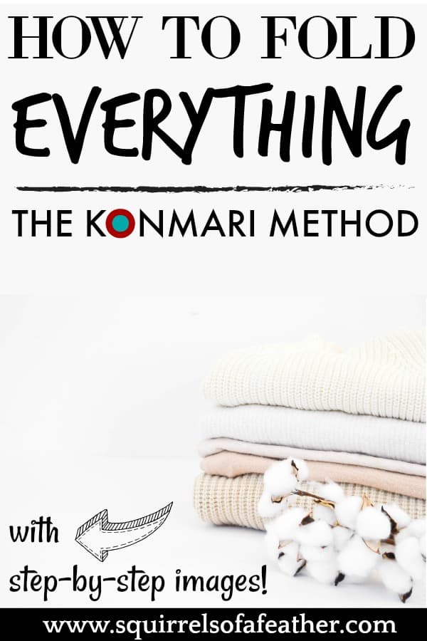 Clothing folded with the KonMari method
