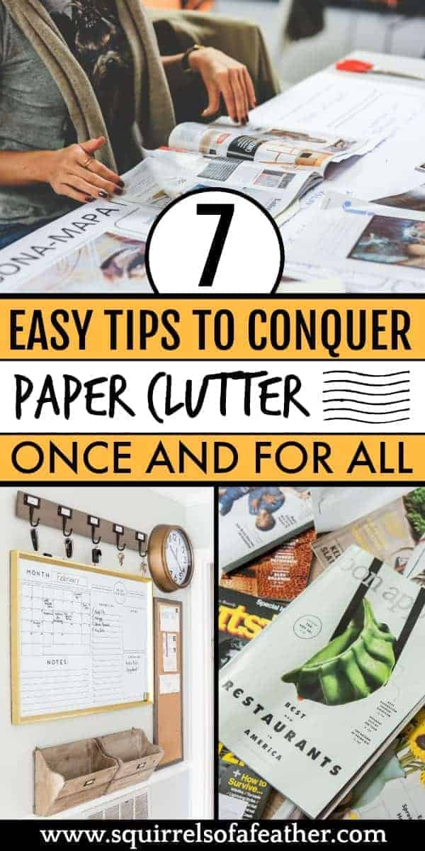 An infographic guide on decluttering paper