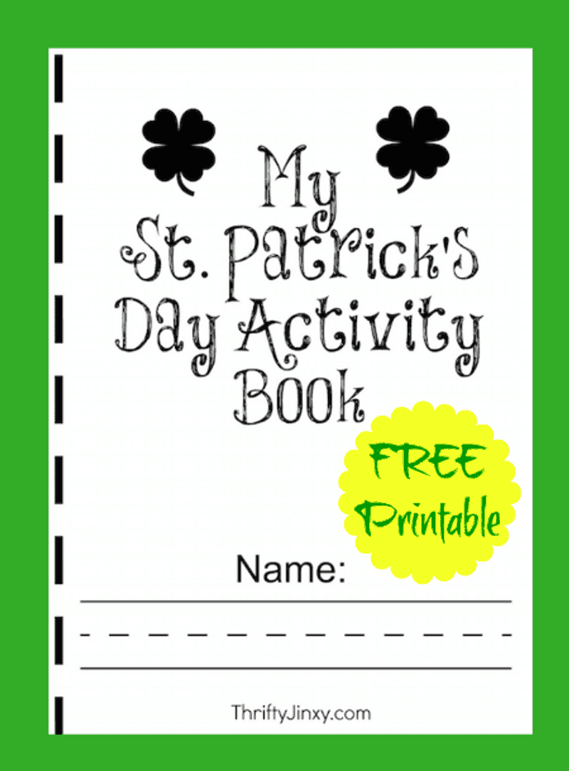 Free St. Patrick's Day activity book in green