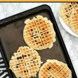 Flat lay of waffles being frozen