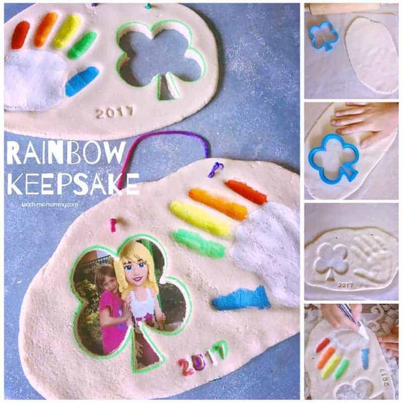 A rainbow St. Patrick's Day clay keepsake craft