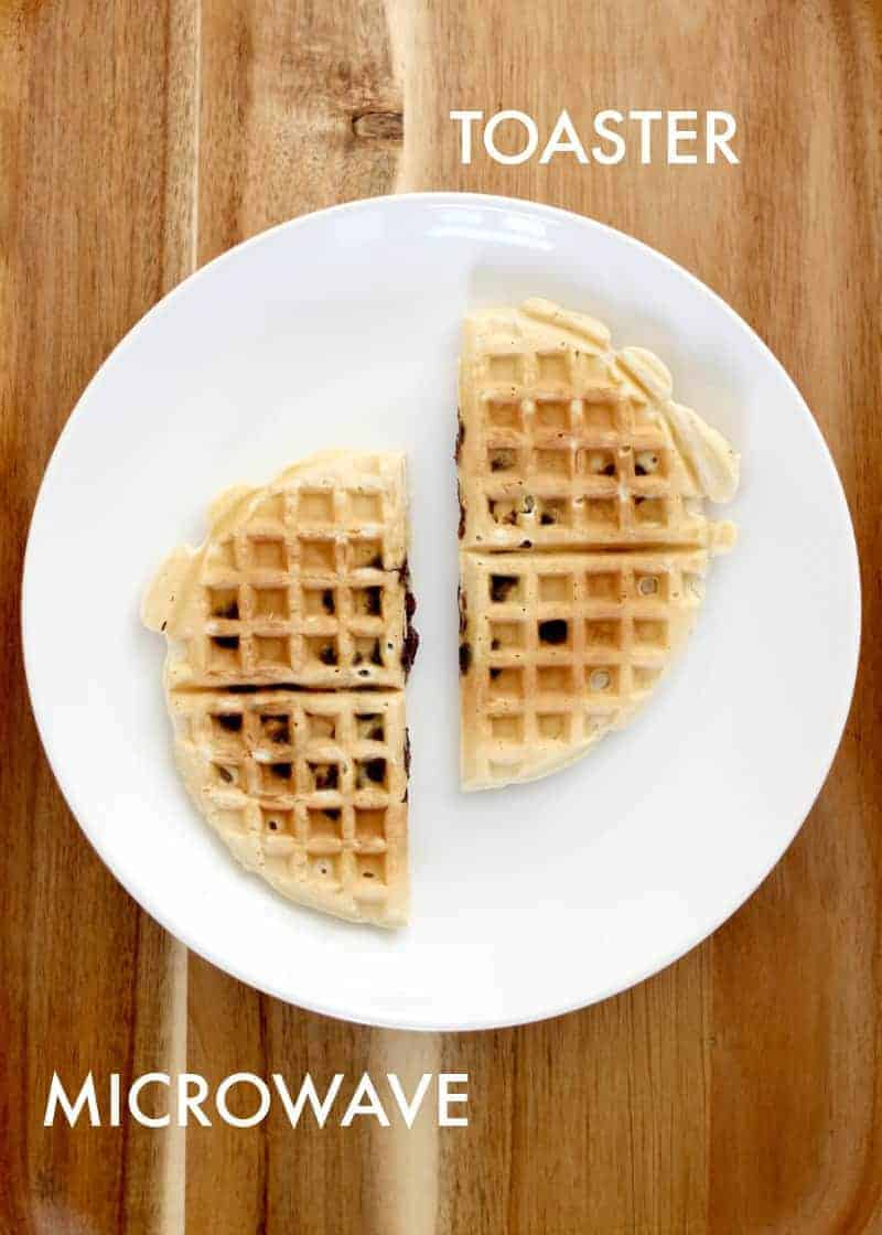 Testing how to reheat waffles for best taste