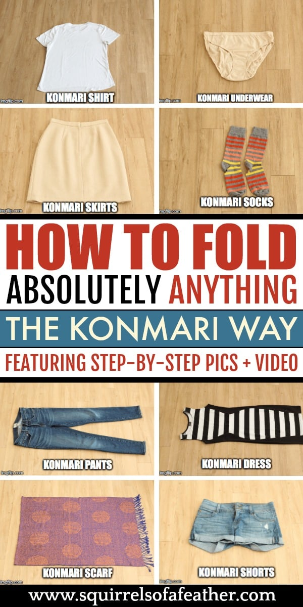 A visual guide on how to KonMari fold clothing