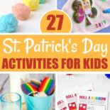 Rainbow St. Patrick's Day activities on a table
