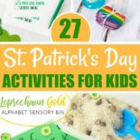 St. Patrick's Day activities on a table