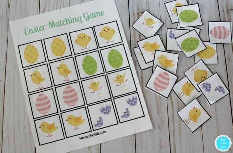A free printable Easter game for matching words