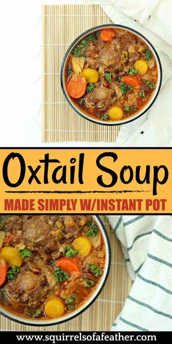 Two picture of oxtail soup from Instant Pot