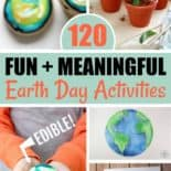 Blue and green Earth Day activities
