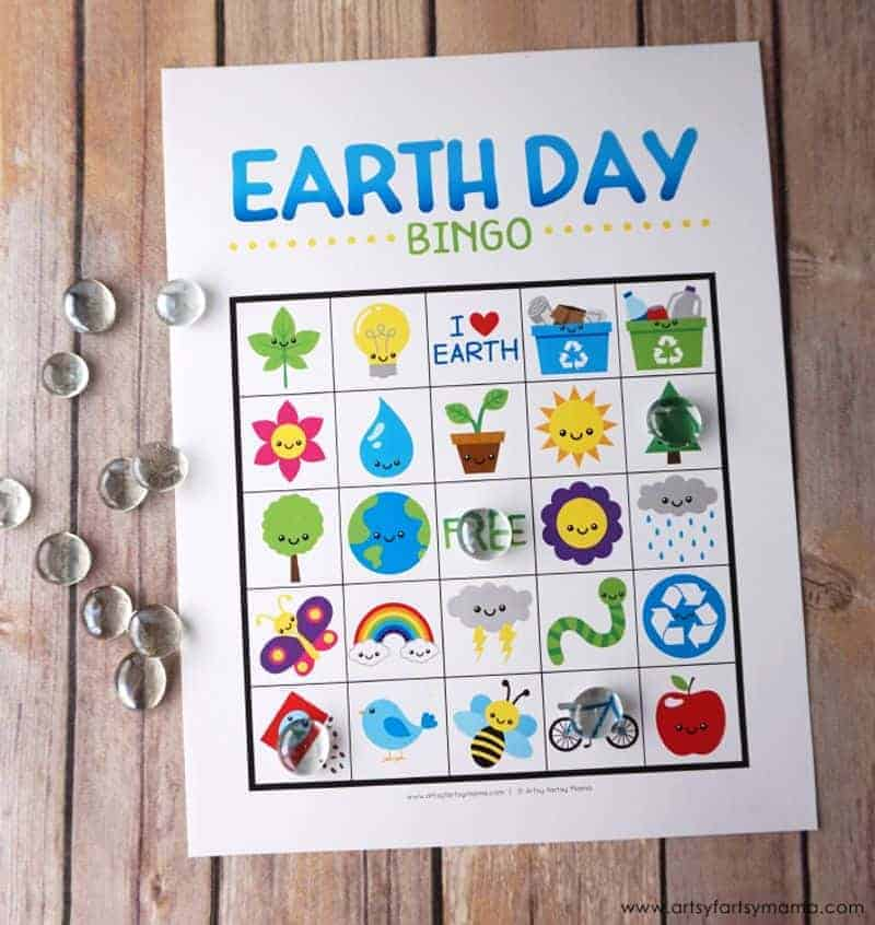 Earth Day bingo printable