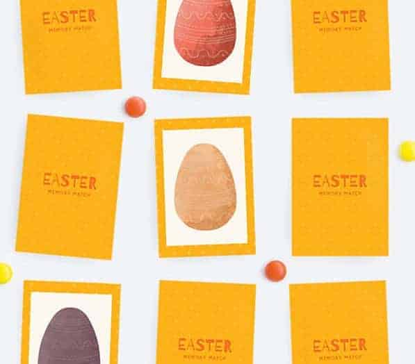 An Easter egg matching game