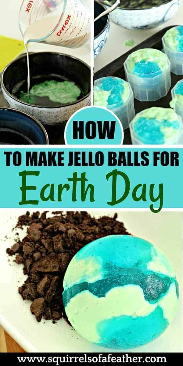 Directions on making Earth Day Jello recipe