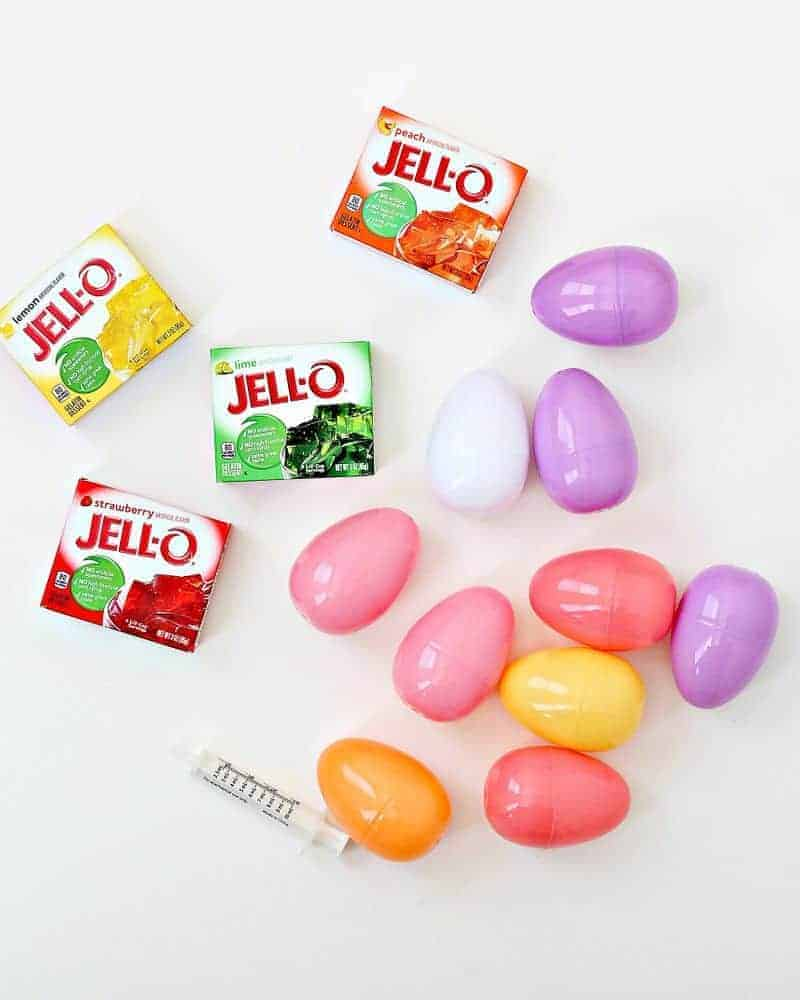 Ingredients to make Jello eggs