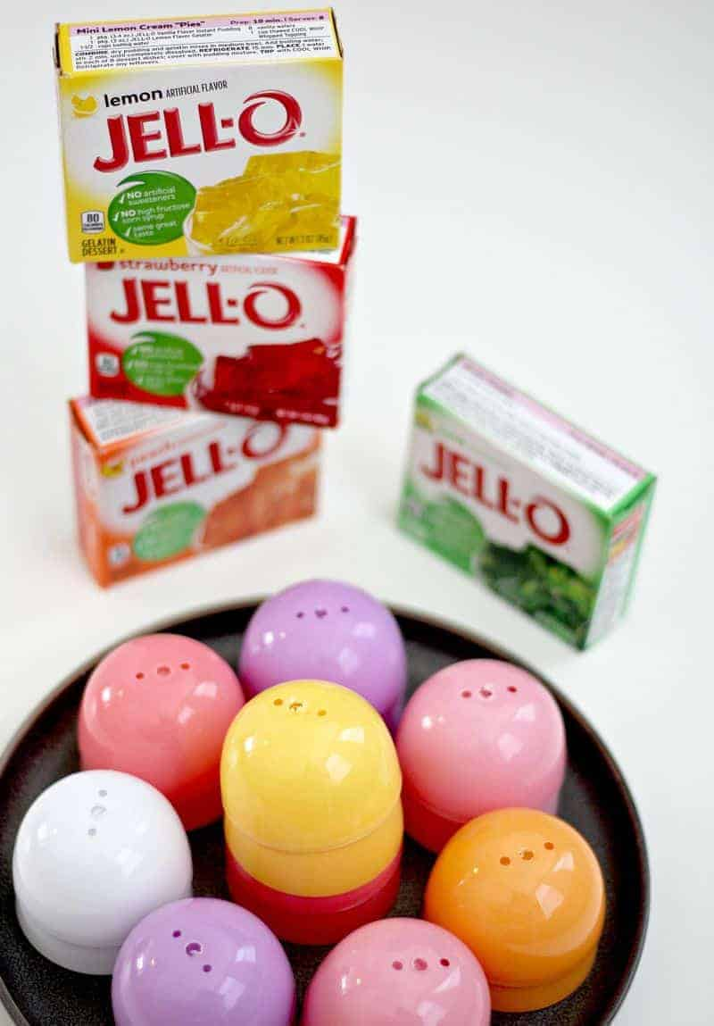 Making jello egg molds