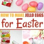 Steps for making Jello Easter eggs