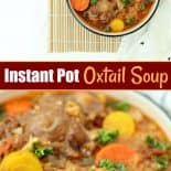 Two bowls of instant pot oxtail soup