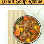 Instant Pot oxtail soup in a bowl