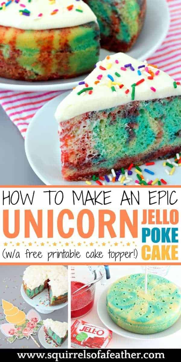 Steps for how to make jello poke cake