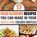 Collection of waffle iron recipes on a table