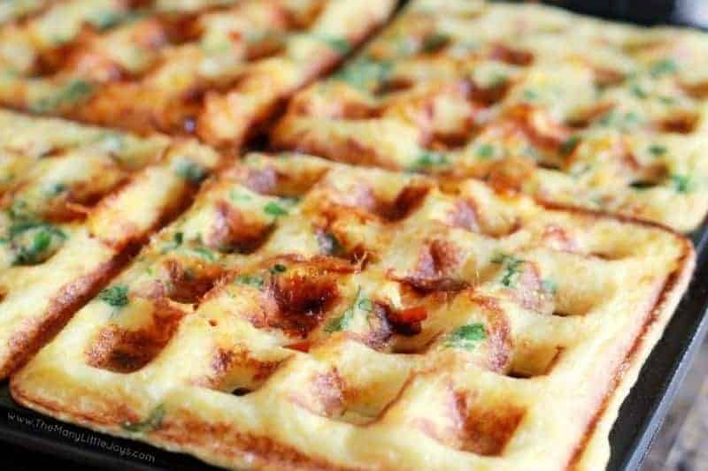 Close up of a waffle potato