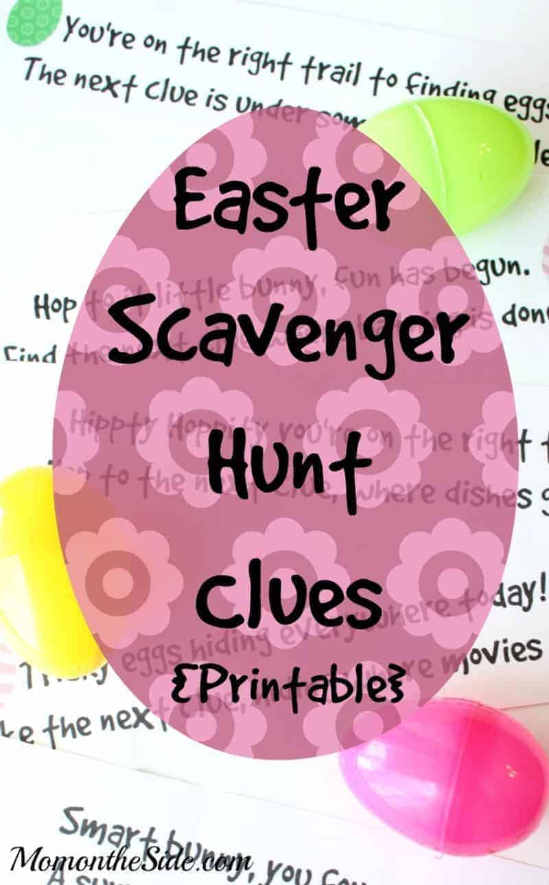 Easter Scavenger hunt clue game
