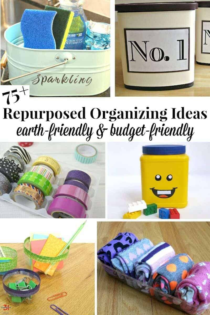 A roundup of 75v earth-friendly organizing ideas