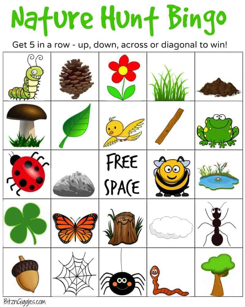 Earth Day bingo free printable