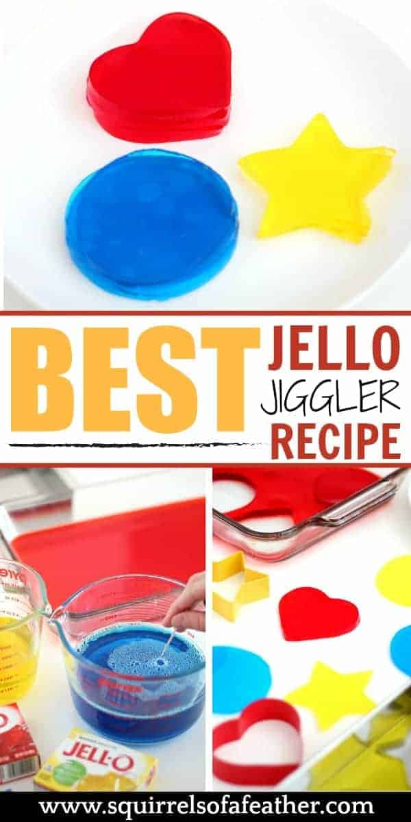Steps for making Jello Jigglers