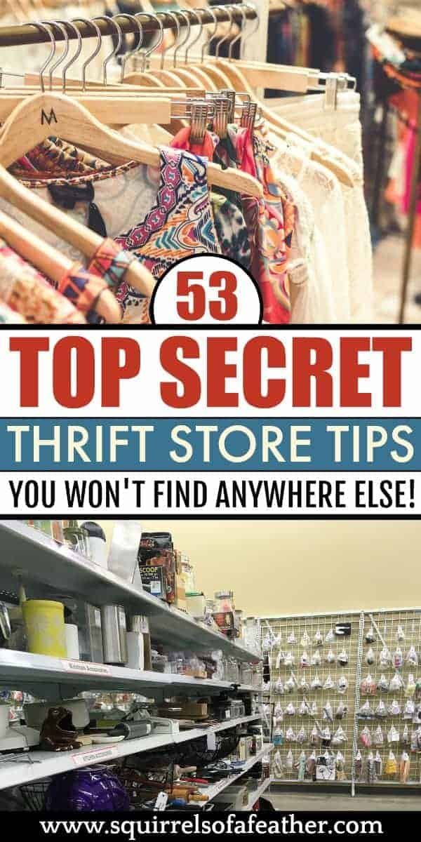A list of the best thrift store tips