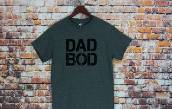 Dad bod T-shirt in green