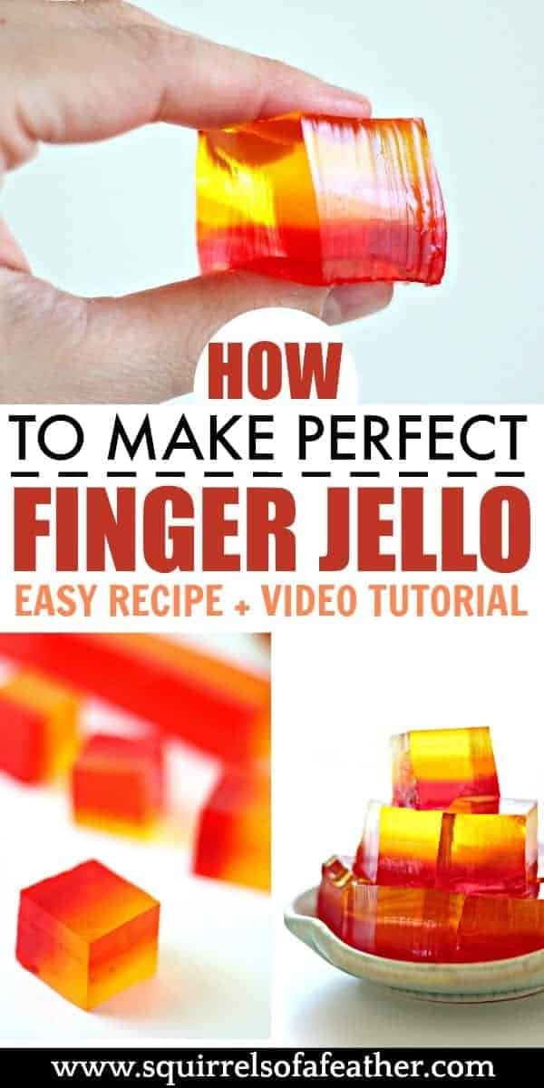 Steps to making finger jello