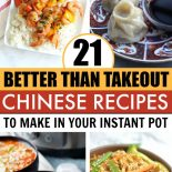 Four tasty Chinese Instant Pot recipes in bowls