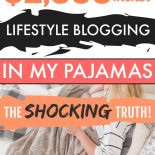 A lifestyle blogger making money at home