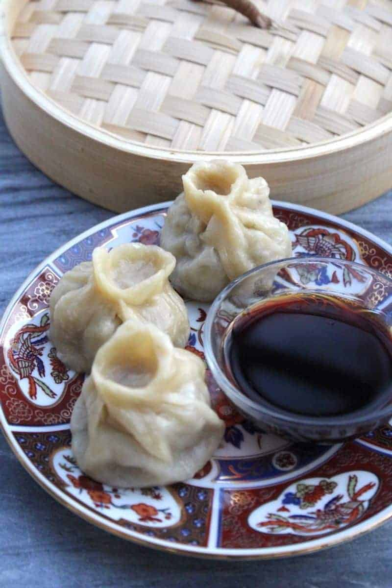 Instant Pot Chinese buns on a plate