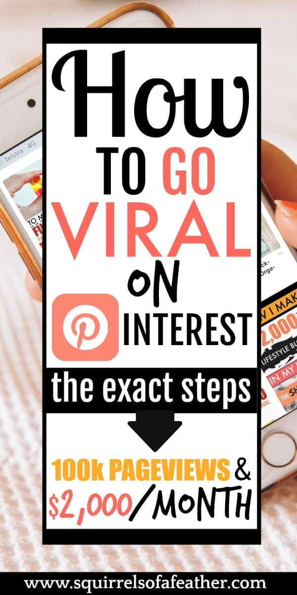 A woman making money from home with Pinterest