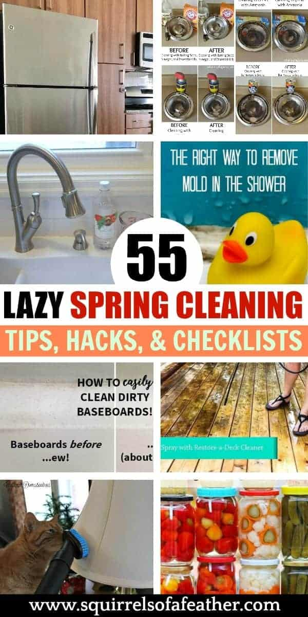 A list of cleaning hacks