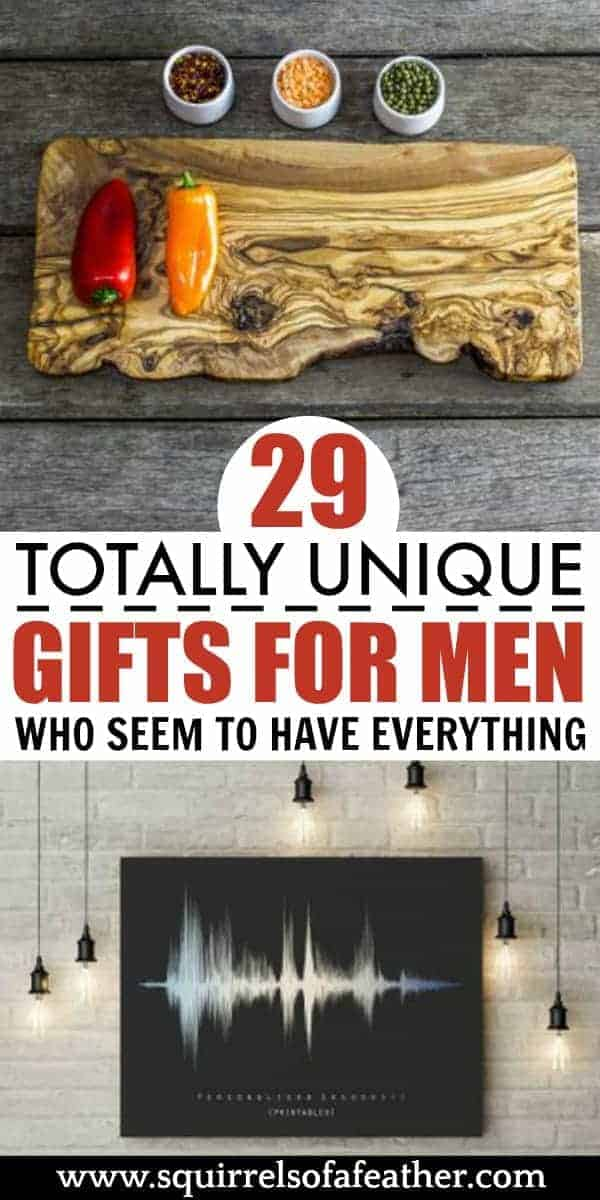 Two unique gifts for men on a table