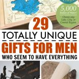 Three best gift ideas for men being displayed