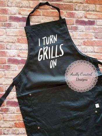 Apron gift for dad with funny saying