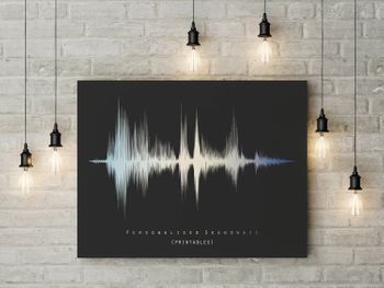 Personalized gift for men sound wave wall art