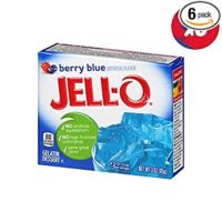JELL-O Berry Blue Gelatin Dessert Mix (3 oz Boxes, Pack of 6)