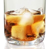 Vivocci Unbreakable Tritan Plastic Rocks 12.5 oz Whiskey & Double Old Fashioned Glasses   Thumb Indent Glassware   Ideal for Bourbon & Scotch   Perfect For Homes & Bars   Dishwasher Safe   Buy 6 Pay 5