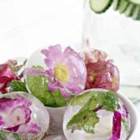 Put Edible Flowers in Ice Cubes for Perfectly Insta-Worthy Drinks