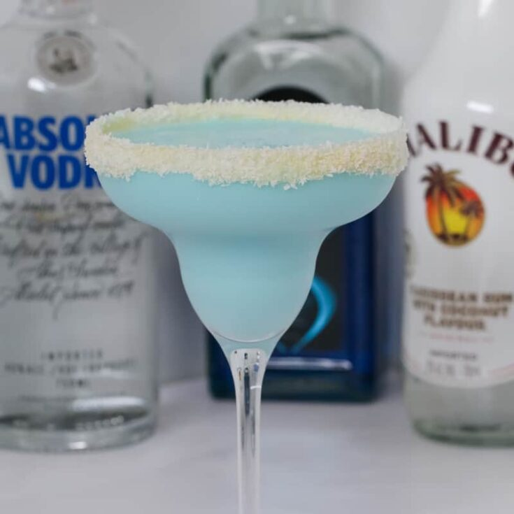 Blue Coconut Rum Cocktail | Malibu, Vodka & Blue Curacao