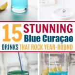 A collection of alcoholic blue drink recipes made with blue curacao