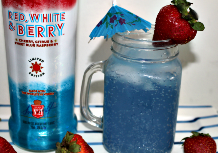 Easy To Make Red White And Berry Patriotic Cocktail